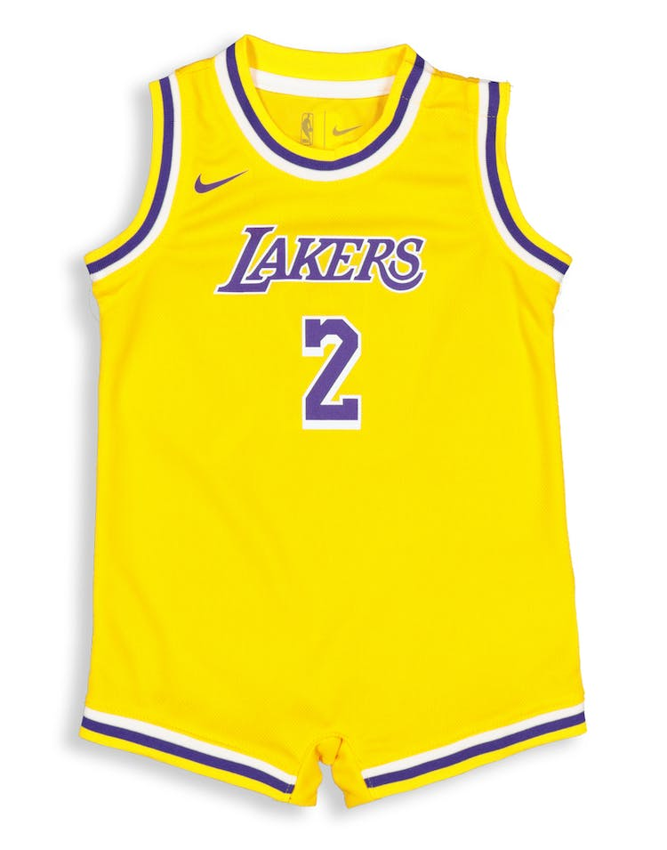 1234129e2d5 Nike Infant Los Angeles Lakers Lonzo Ball  2 Replica Onesie NBA Jersey –  Culture Kings