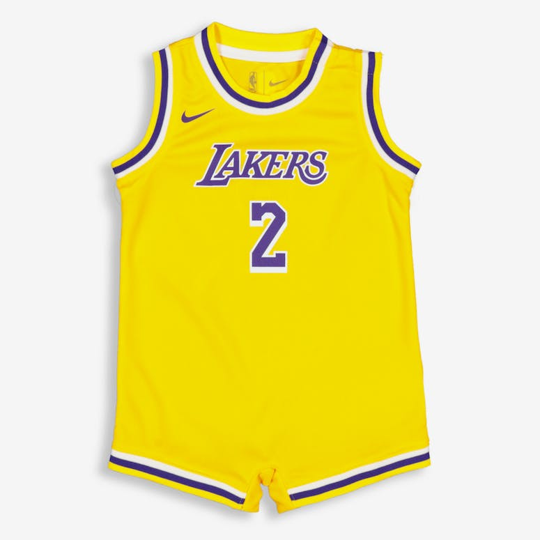 e5ca44c3b Nike Infant Los Angeles Lakers Lonzo Ball  2 Replica Onesie NBA Jersey –  Culture Kings