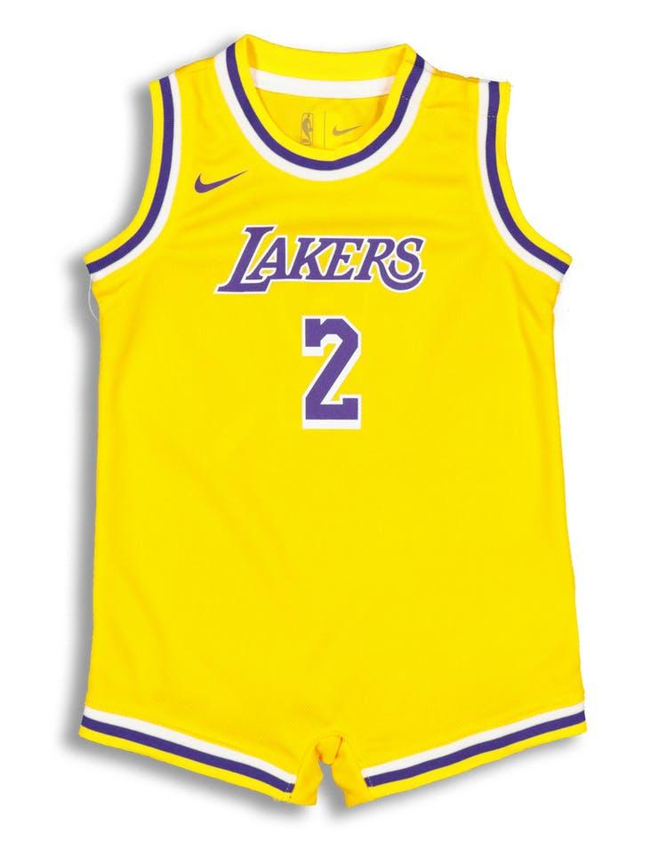 super popular c9203 dc1cf Nike Infant Los Angeles Lakers Lonzo Ball #2 Replica Onesie NBA Jersey  Yellow