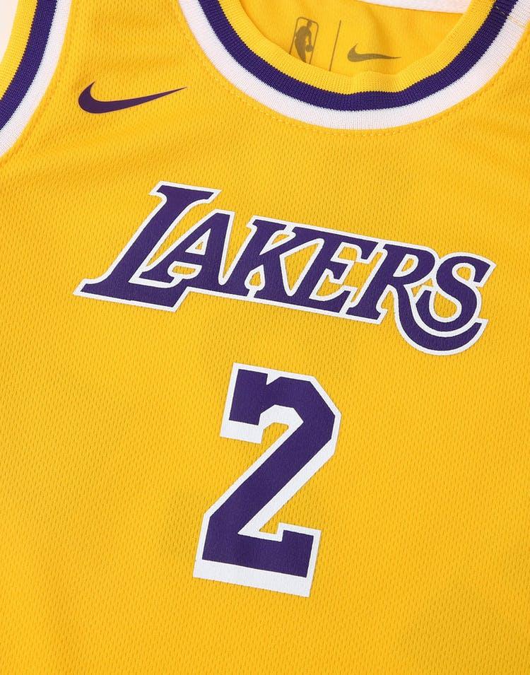 super popular 4d56f 310ea Nike Infant Los Angeles Lakers Lonzo Ball #2 Replica Onesie NBA Jersey  Yellow