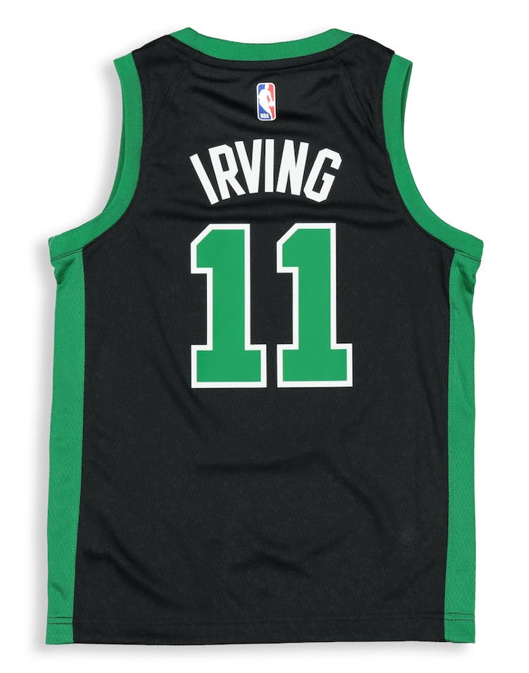 pretty nice a665a d93f8 Nike Kids Boston Celtics Kyrie Irving #11 Icon Swingman NBA Jersey Black