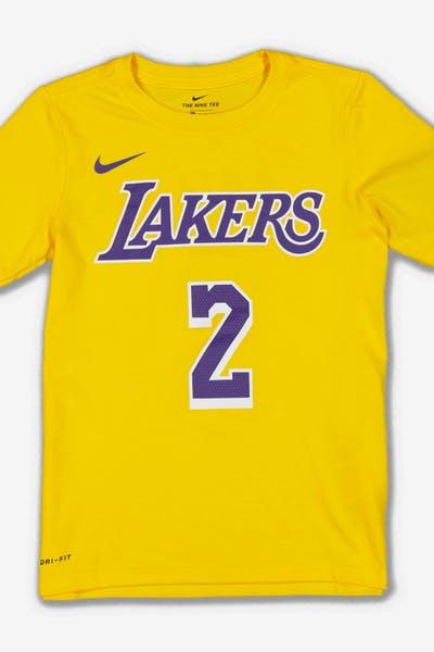 74de210329b6 Nike Boys Los Angeles Lakers Lonzo Ball  2 Icon N N Tee Yellow