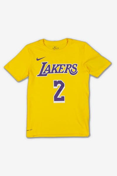 Nike Boys Los Angeles Lakers Lonzo Ball #2 Icon N&N Tee Yellow