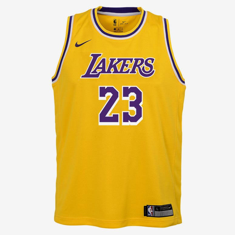 4b43c97d3df Nike Kids Los Angeles Lakers LeBron James  23 Icon Swingman NBA Jersey –  Culture Kings