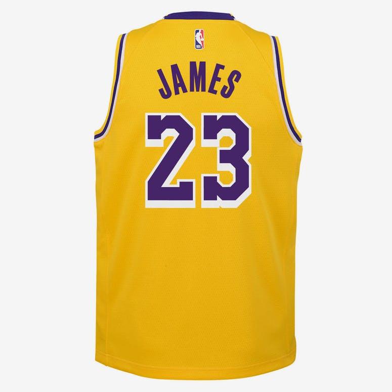 264bfe565 Nike Kids Los Angeles Lakers LeBron James  23 Icon Swingman NBA Jersey –  Culture Kings