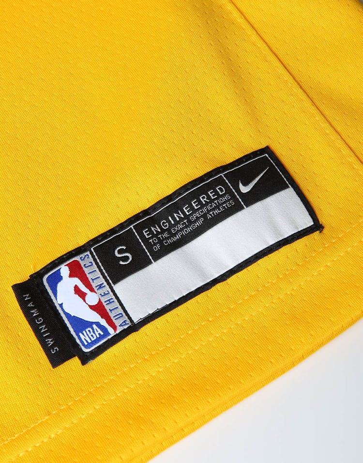 in stock c72a7 0ee64 Nike Kids Los Angeles Lakers LeBron James #23 Icon Swingman NBA Jersey  Yellow