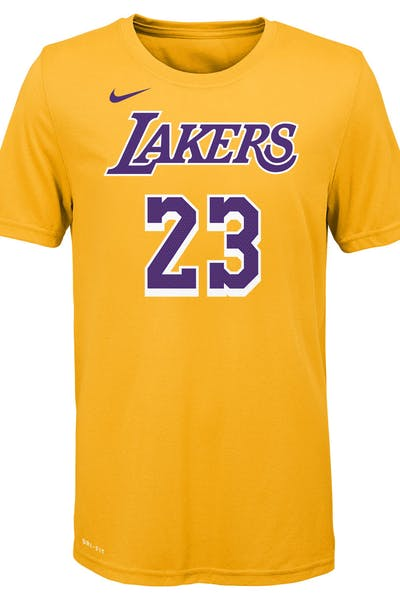 a86e68e09d1fa Nike Boys Los Angeles Lakers LeBron James  23 Icon N N Tee Yellow