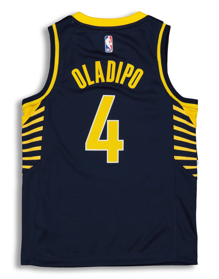 meet e18d5 b76b5 Nike Kids Indiana Pacers Victor Oladipo #4 Icon NBA Swingman Jersey Navy