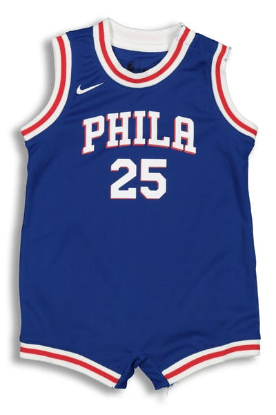 2beb38d5fb9 Nike Infant Philadelphia 76ers Ben Simmons  25 Replica Onesie NBA Jersey  Blue