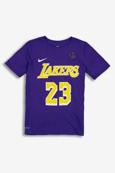 45f686569 Nike Boys Los Angeles Lakers LeBron James  23 Statement N N Tee Purple