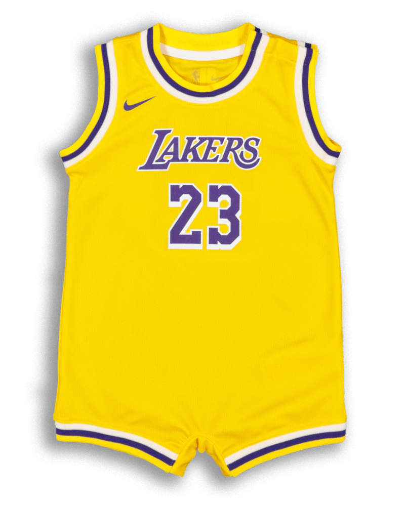 Nike Infant Los Angeles Lakers Lebron James 23 Replica Onesie Nba Jersey Yellow Culture Kings