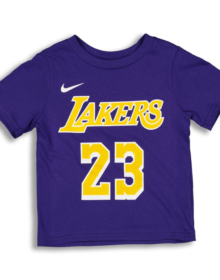 665762608 Nike Toddler Los Angeles Lakers LeBron James  23 Icon N N Tee Purple –  Culture Kings