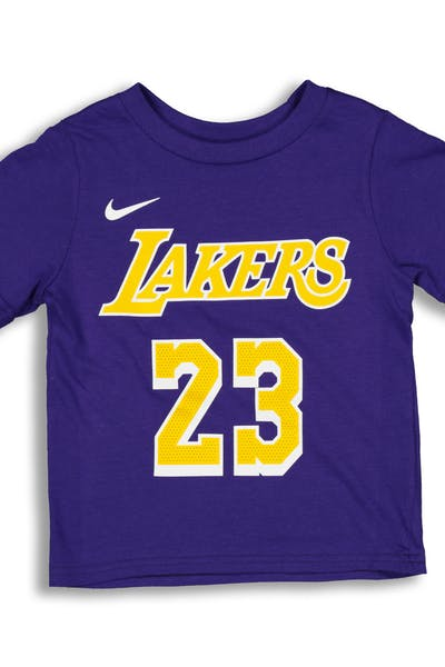 c0167d326fe Nike Toddler Los Angeles Lakers LeBron James  23 Icon N N Tee Purple