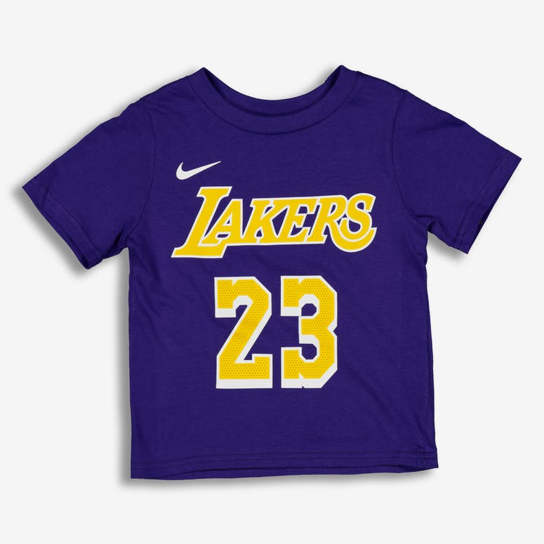 Nike Toddler Los Angeles Lakers LeBron James  23 Icon N N Tee Purple –  Culture Kings bb3d63024