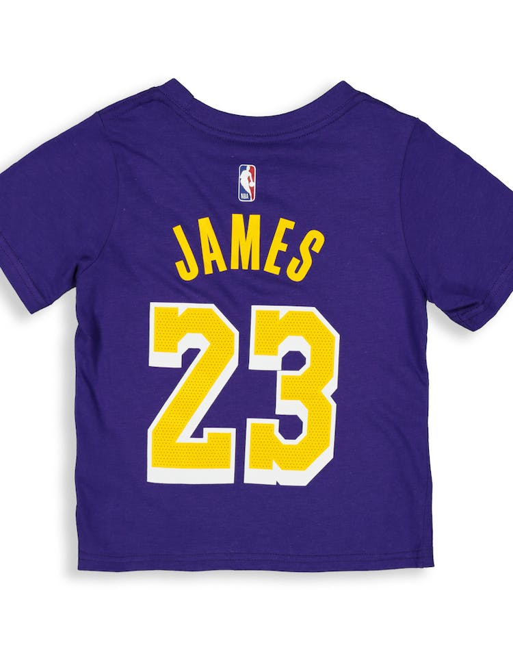0b531dd0b53bed Nike Toddler Los Angeles Lakers LeBron James #23 Icon N&N Tee Purple ...