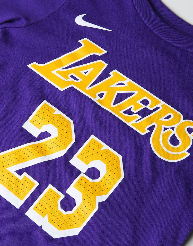 competitive price 03f8b a03a2 Nike Toddler Los Angeles Lakers LeBron James #23 Icon N&N Tee Purple