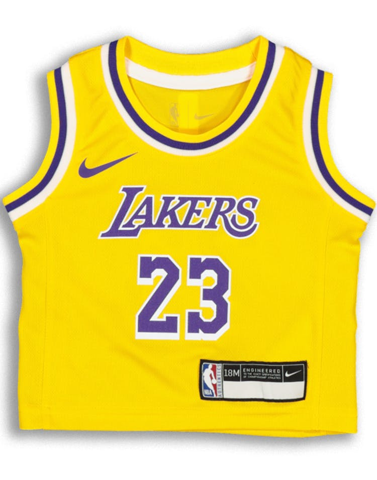 dab710ac82c83d Nike INFANT Los Angeles Lakers LeBron James  23 REPLICA JERSEY ICON ED –  Culture Kings