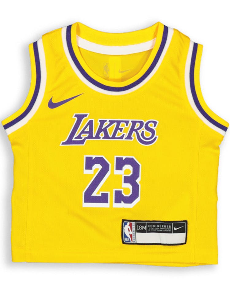 reputable site 80d22 6c86b Nike INFANT Los Angeles Lakers LeBron James #23 REPLICA JERSEY ICON EDITION  Yellow