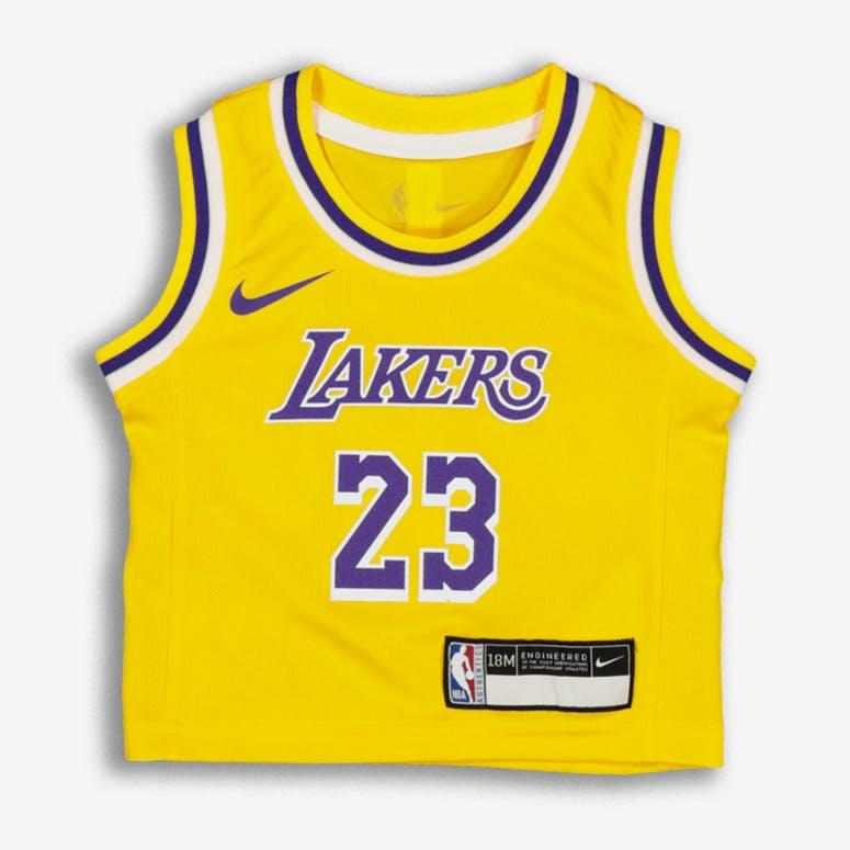 Nike INFANT Los Angeles Lakers LeBron James  23 REPLICA JERSEY ICON ED –  Culture Kings 19e2fc6e3