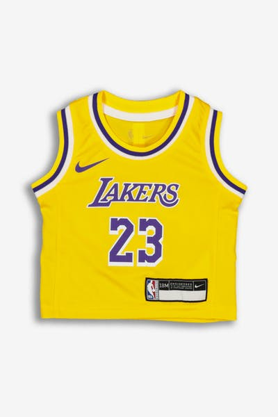 Nike INFANT Los Angeles Lakers LeBron James #23 REPLICA JERSEY ICON EDITION Yellow