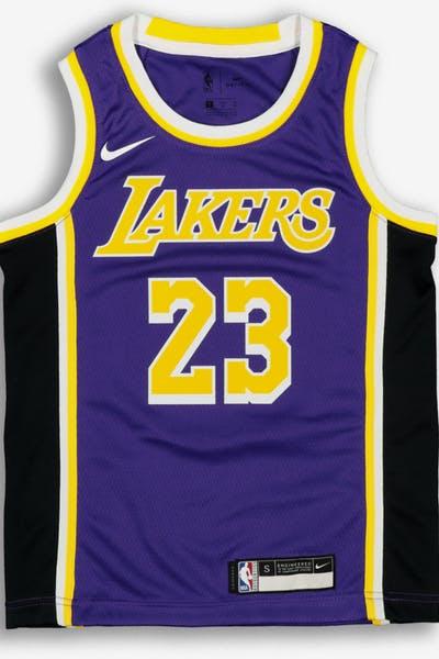 fded366c0 Nike Kids Los Angeles Lakers LeBron James  23 Statement Swingman NBA Jersey  Purple