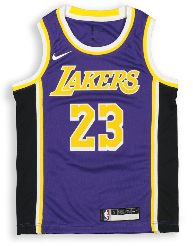 best website 00858 17eae Nike Kids Los Angeles Lakers LeBron James #23 Statement Swingman NBA Jersey  Purple