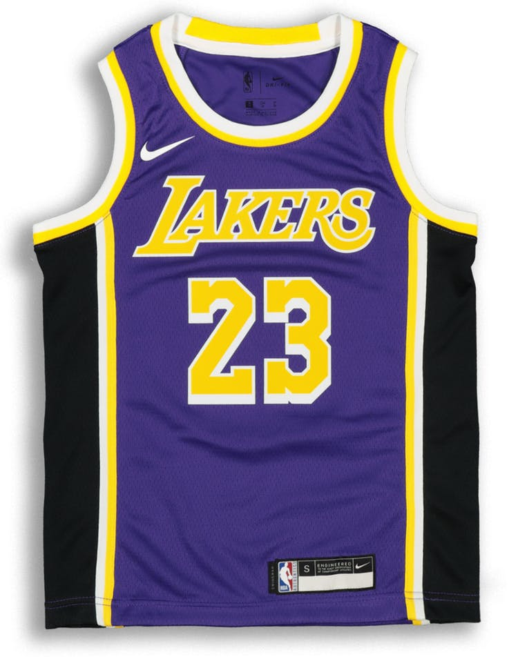 best website 255bf d30e9 Nike Kids Los Angeles Lakers LeBron James #23 Statement Swingman NBA Jersey  Purple
