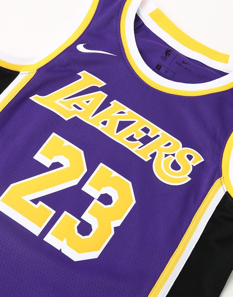 c73296c97015 Nike Kids Los Angeles Lakers LeBron James  23 Statement Swingman NBA Jersey  Purple
