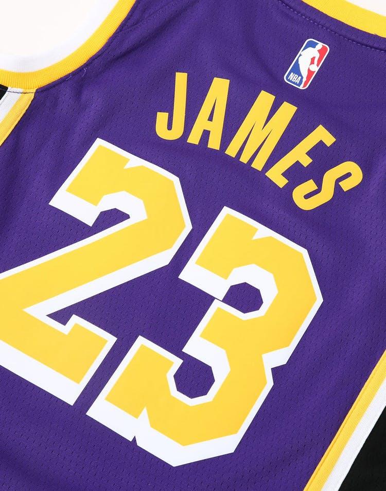 f61ff3aab00c Nike Kids Los Angeles Lakers LeBron James  23 Statement Swingman NBA Jersey  Purple