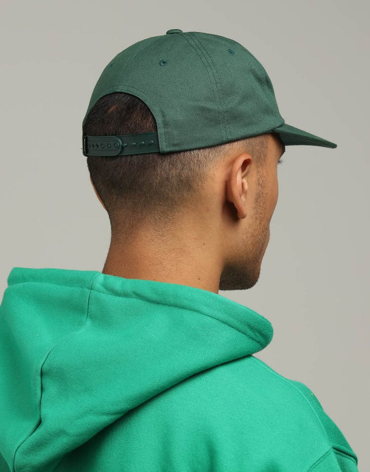 052232e1b Obey Vanish 6 Panel Snapback Dark Green