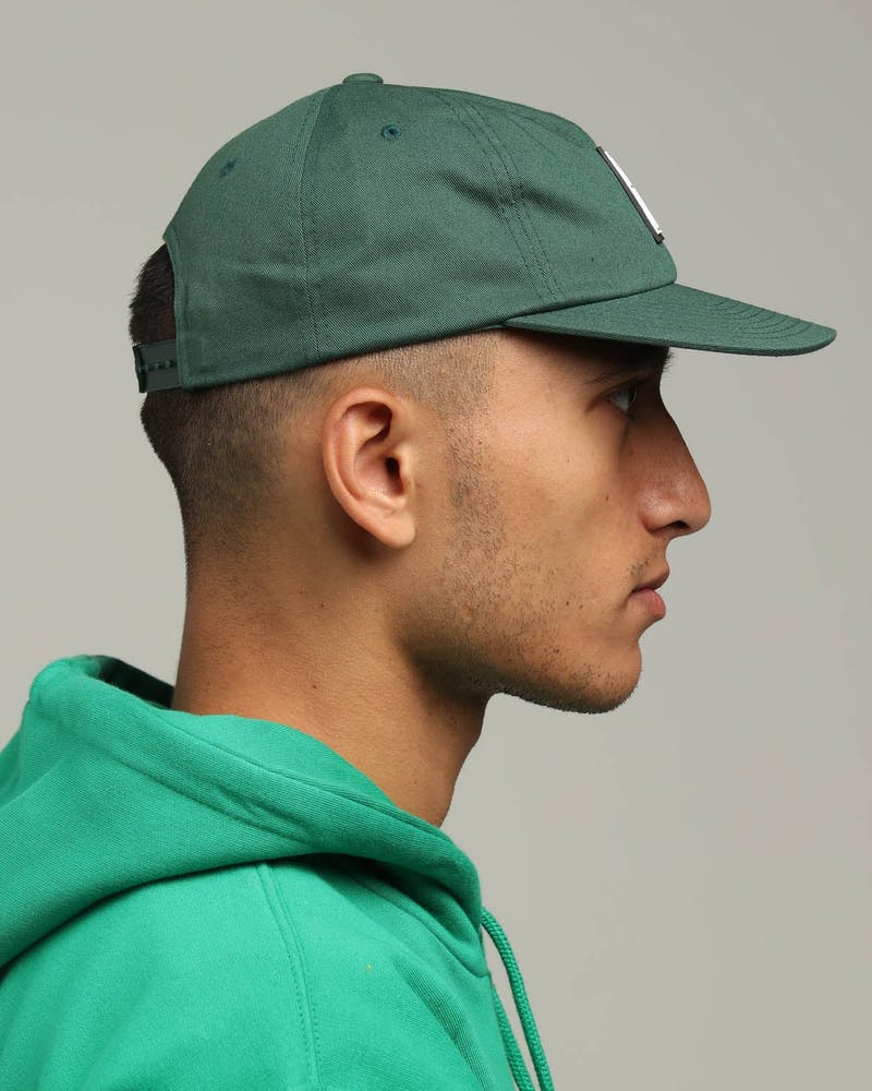 Obey Vanish 6 Panel Snapback Dark Green