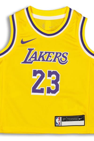 c79202241f56 Nike Toddler Los Angeles Lakers LeBron James  23 Replica Jersey Icon Edition  Yellow