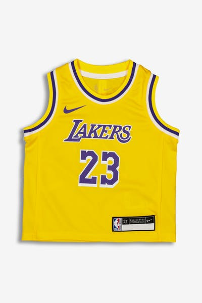 Nike Toddler Los Angeles Lakers LeBron James  23 Replica Jersey Icon  Edition Yellow 6e61abf3a
