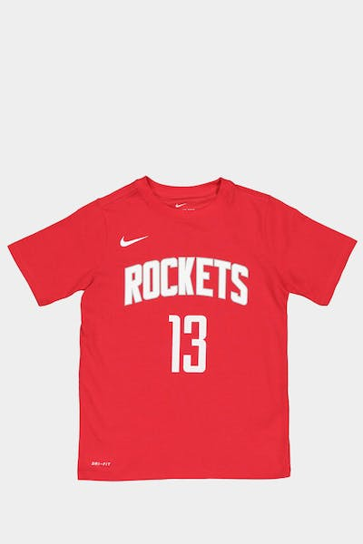 Nike Boys Houston Rockets James Harden #13 Icon N&N Tee Red