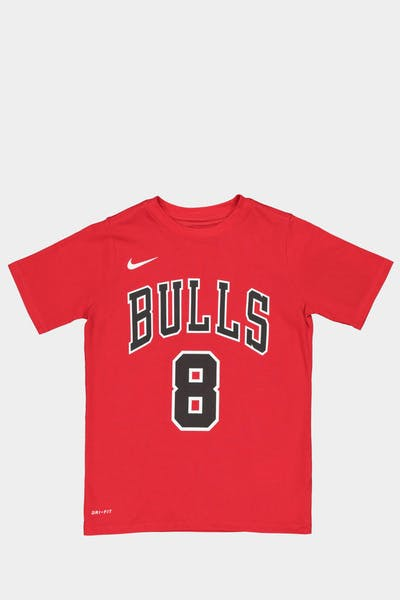 Nike Boys Chicago Bulls Zach LaVine #8 Icon N&N Tee Red