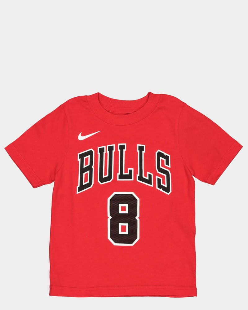 Nike Toddler Chicago Bulls Zach LaVine #8 Icon N&N Tee Red