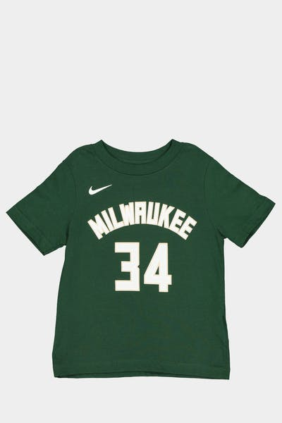 Nike Toddler Milwaukee Bucks Giannis Antetokounmpo #34 Icon N&N Tee Green