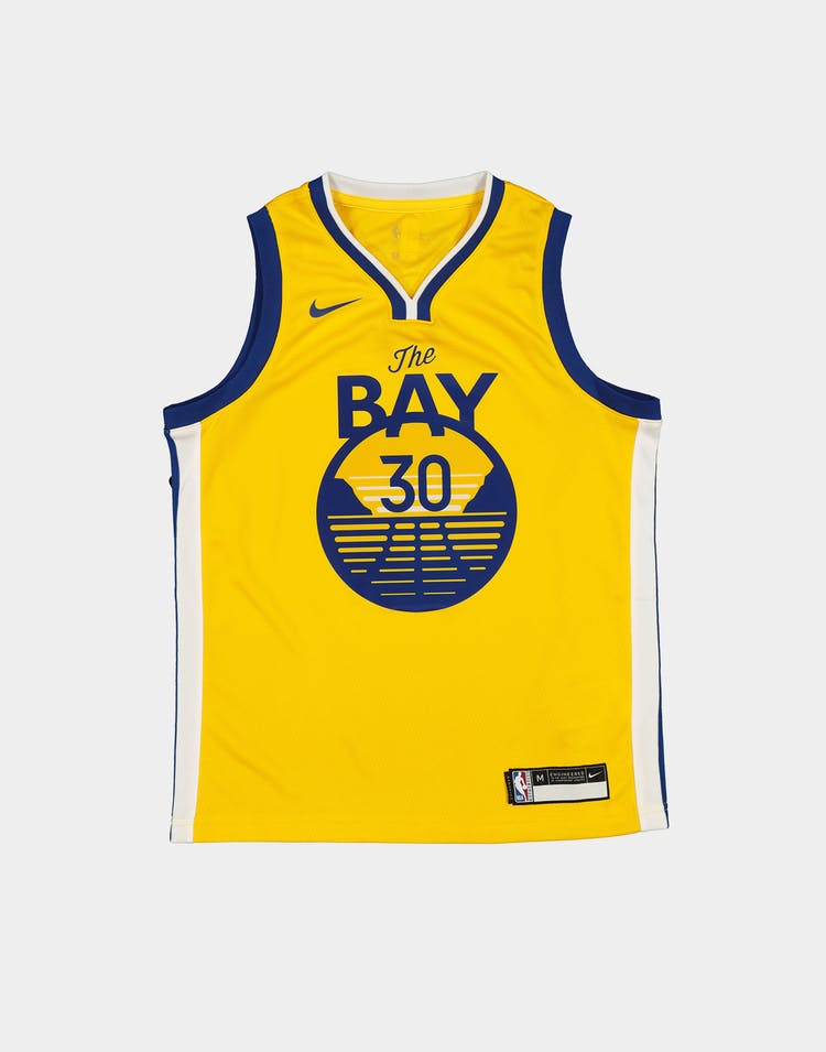 Nike Boys Golden State Warriors Stephen Curry #30 Statement Jersey Yellow