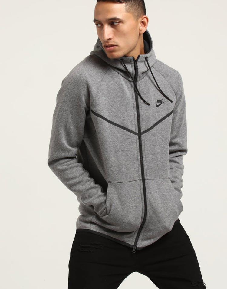 9146aca1ed3c Nike Tech Fleece Windrunner Hood Dark Grey Black – Culture Kings