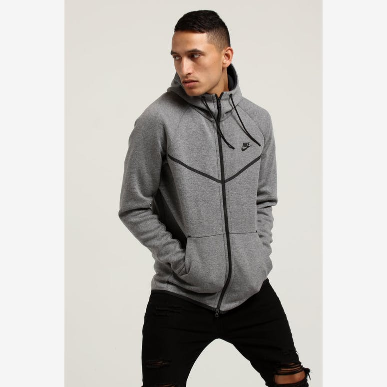 97e119dca8 Nike Tech Fleece Windrunner Hood Dark Grey Black – Culture Kings