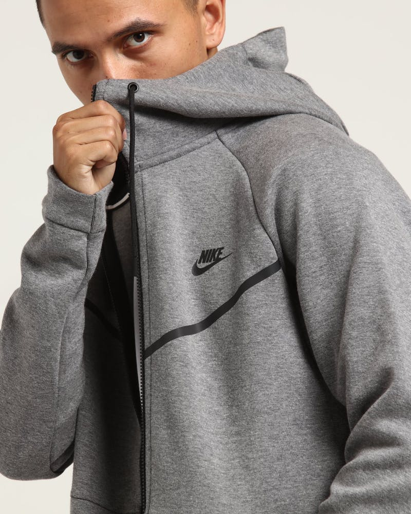 Nike Tech Fleece Windrunner Hood Dark Grey Black Culture Kings