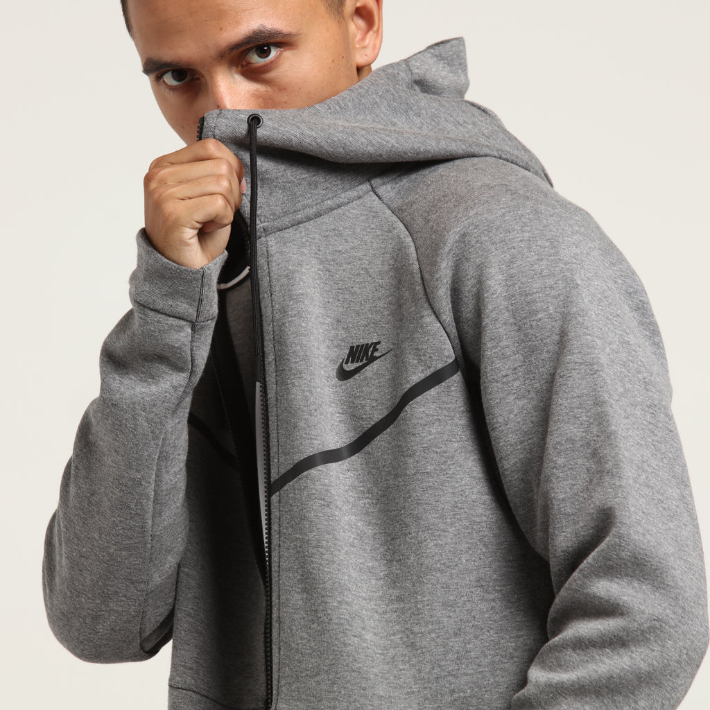 Nike Tech Fleece Windrunner Hood Dark GreyBlack