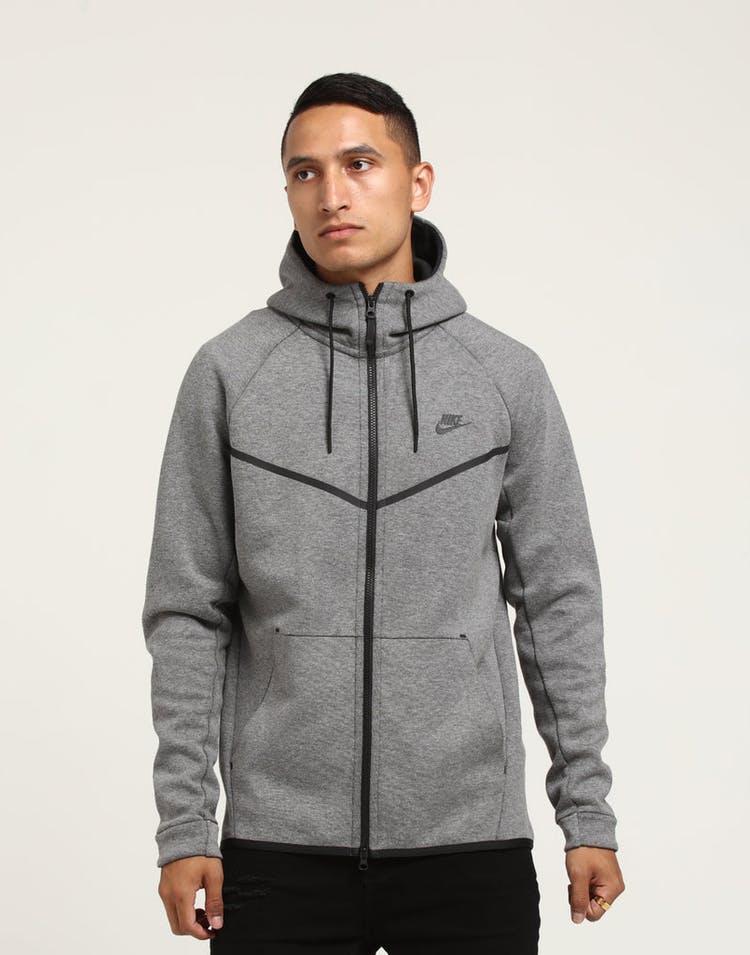 0537365f Nike Tech Fleece Windrunner Hood Dark Grey/Black – Culture Kings