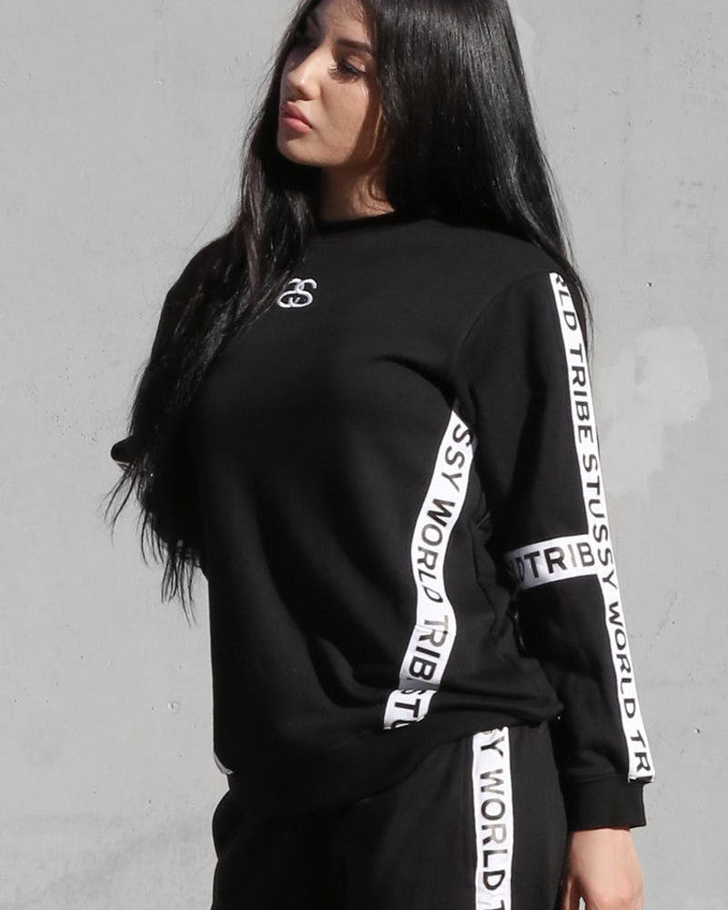 Stüssy Tape Sweater Black
