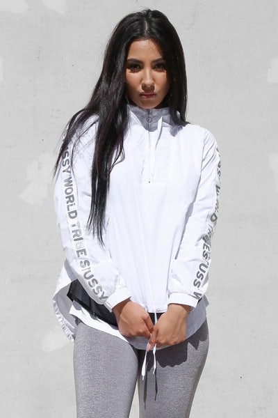 Stussy Tape Wind Breaker White
