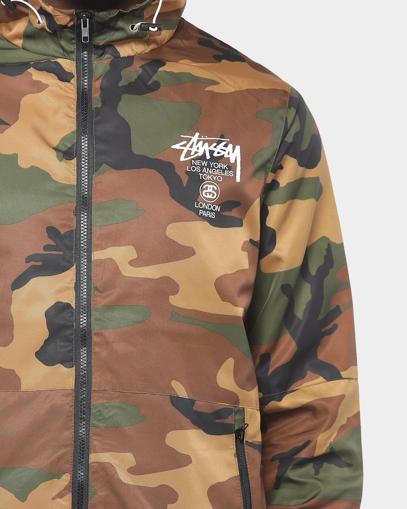 Stussy Cities Spray Jacket Camo Windbreaker