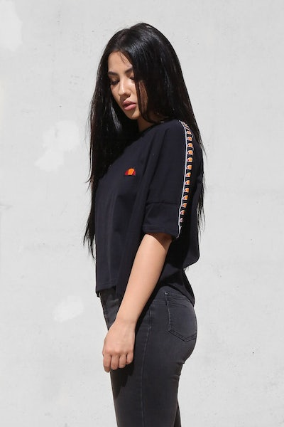 Ellesse Anice Wide Fit Crop Tee Anthracite