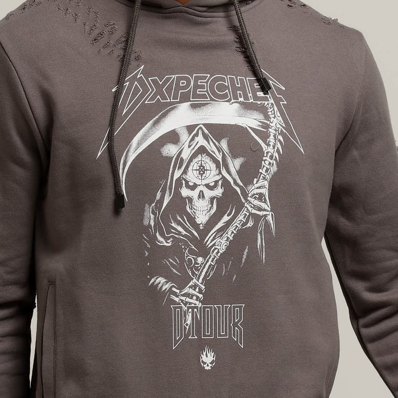Dxpe Chef GOTHIC DISTRESSED TOUR HOOD Charcoal