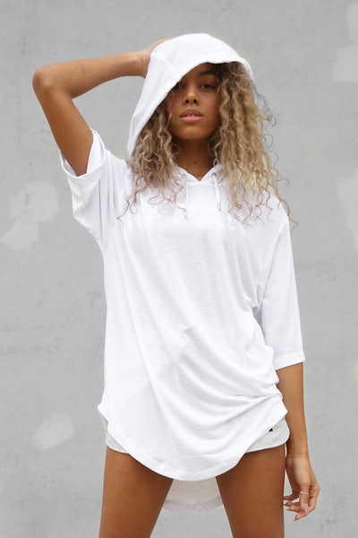 Ivy Park Embroidered Logo Hood Tee White