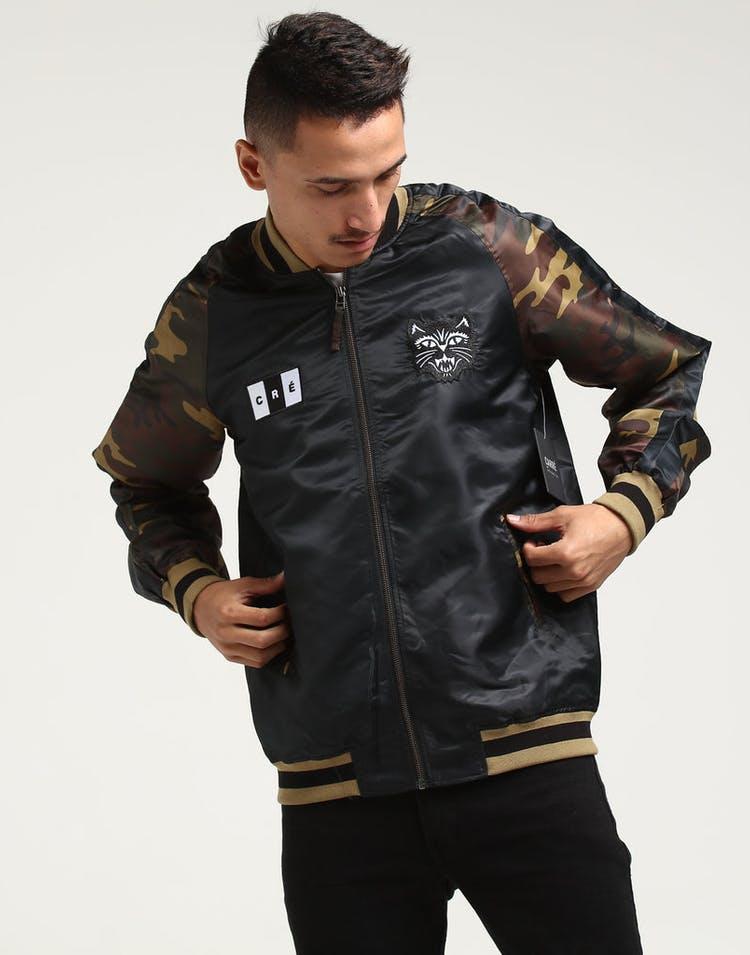 de4864dd1d79f Carré Felin Souvenir Varsity Jacket Black/Camo – Culture Kings